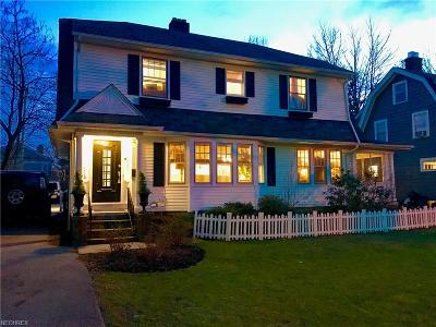 Shaker Heights Single Family Home For Sale: 3184 Chadbourne Rd