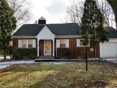 Copley Single Family Home For Sale: 2932 Copley Rd