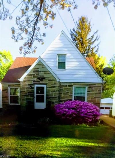 Maple Heights Single Family Home For Sale: 14910 James Ave