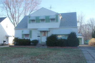 Wickliffe Single Family Home For Sale: 751 North Elmwood Ave