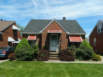 Wickliffe Single Family Home For Sale: 1521 Silver St