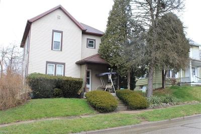 Cambridge OH Single Family Home For Sale: $75,000