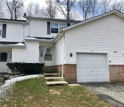 Twinsburg OH Condo/Townhouse For Sale: $104,900