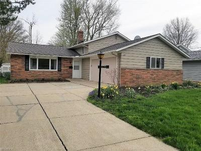 Fairview Park Single Family Home For Sale: 22665 Bard Ave