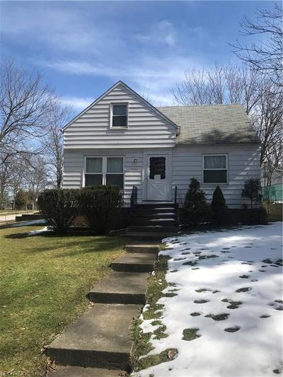 Maple Heights Single Family Home For Sale: 14435 Maple Ave