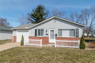 Wickliffe Single Family Home For Sale: 1747 Ridgeview Dr