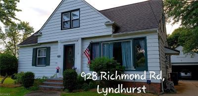 Lyndhurst Single Family Home For Sale: 928 Richmond Rd