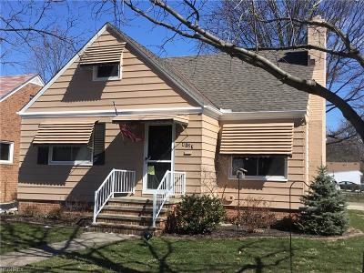 Fairview Park Single Family Home For Sale: 4127 West 222 St