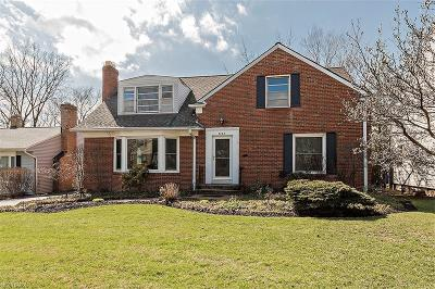 Beachwood Single Family Home For Sale: 3428 Rexway Rd