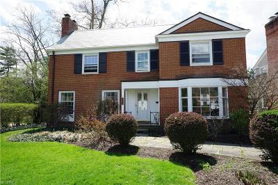 Shaker Heights Single Family Home For Sale: 22626 Calverton Rd