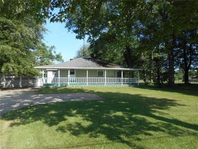 Vienna Single Family Home For Sale: 1968 Youngstown Kingsville Rd Northeast