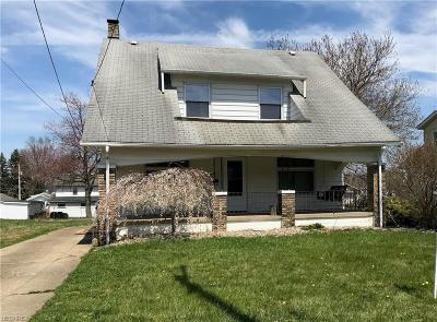 Youngstown Single Family Home For Sale: 1662 Bancroft Ave