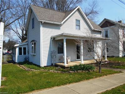 Dresden OH Single Family Home For Sale: $94,500