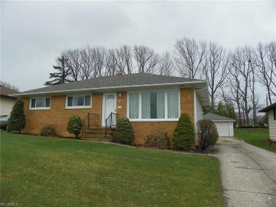 Parma Single Family Home For Sale: 9685 Reichert Rd