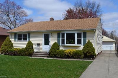 Parma Single Family Home For Sale: 10962 Blossom Ave
