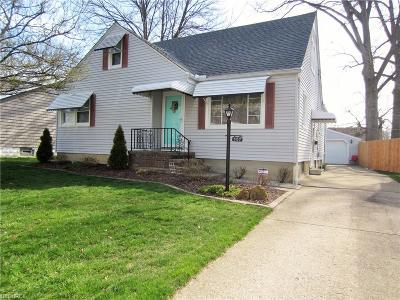 Elyria Single Family Home For Sale: 307 Harwood St