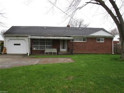 Youngstown Single Family Home For Sale: 2753 Canfield Rd