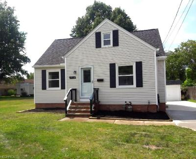 Wickliffe Single Family Home For Sale: 1910 East 300 St