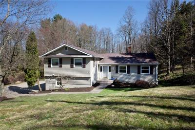 Chagrin Falls Single Family Home For Sale: 1537 Bell Rd