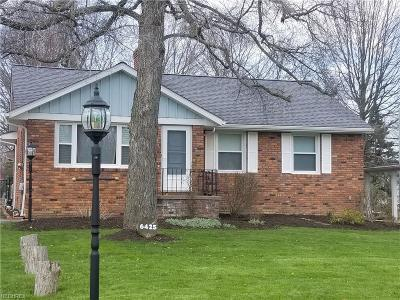 Independence Single Family Home For Sale: 6425 Hillside Rd