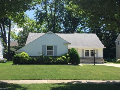 Rocky River Single Family Home For Sale: 19051 East Shoreland Ave