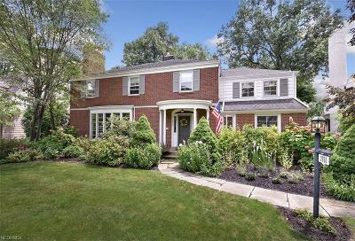 Shaker Heights Single Family Home For Sale: 2855 Manchester Rd