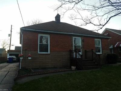 Cleveland OH Single Family Home For Sale: $69,000