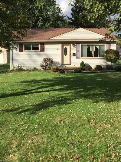 Boardman OH Single Family Home For Sale: $60,000