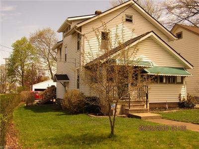 Painesville OH Single Family Home For Sale: $119,500