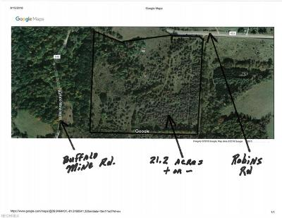 Guernsey County Residential Lots & Land For Sale: Robins Rd