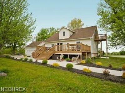 Ashtabula County Single Family Home For Sale: 6544 North River Road West Rd