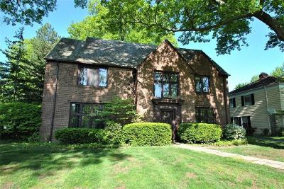 Shaker Heights Single Family Home For Sale: 2682 Belvoir Blvd