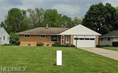 Richmond Heights Single Family Home For Sale: 663 Meadowlane Dr