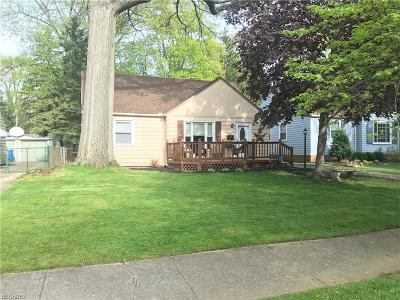 Fairview Park Single Family Home For Sale: 3881 West 227th St