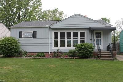 Wickliffe Single Family Home For Sale: 1568 Empire Rd