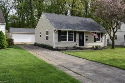 Cleveland OH Single Family Home For Sale: $95,000