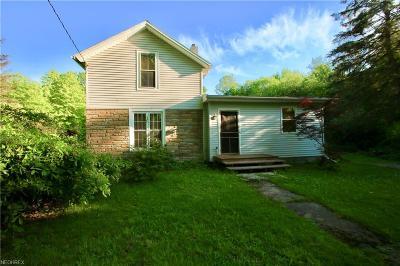 Ashtabula County Single Family Home For Sale: 5784 Stoneville Rd