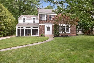 Shaker Heights Single Family Home For Sale: 2555 Warwick Rd