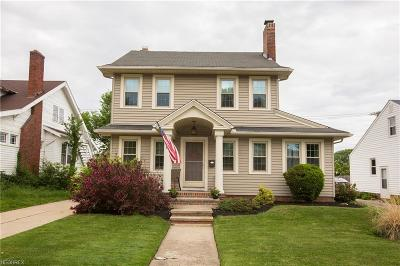 Rocky River Single Family Home For Sale: 3160 Goldengate Ave