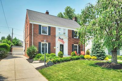 Rocky River Single Family Home For Sale: 240 Cornwall Rd