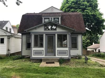 Painesville OH Single Family Home For Sale: $88,000
