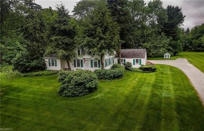 Geauga County Single Family Home For Sale: 16960 Chillicothe Rd
