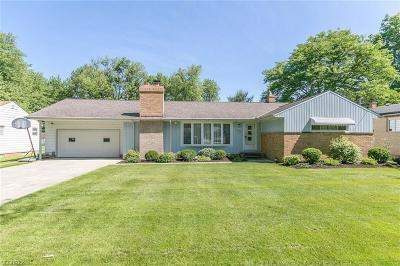 Parma Heights Single Family Home For Sale: 11620 Meadowbrook Dr