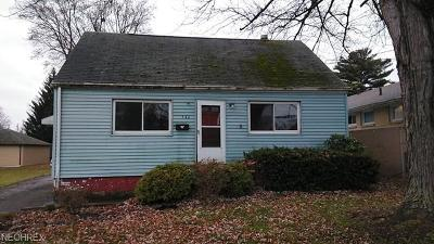 Struthers Single Family Home For Sale: 546 Lincoln Ave