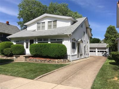 Rocky River Single Family Home For Sale: 1445 Prospect Ave