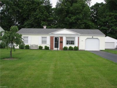 Youngstown Single Family Home For Sale: 1423 Bexley Dr