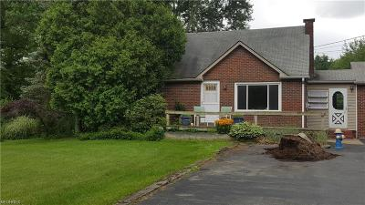 Youngstown Single Family Home For Sale: 1516 Coitsville Hubbard Rd