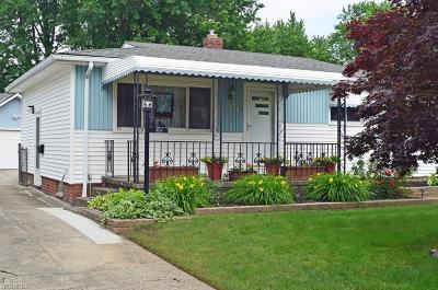 Wickliffe Single Family Home For Sale: 1689 Ridgeview Dr