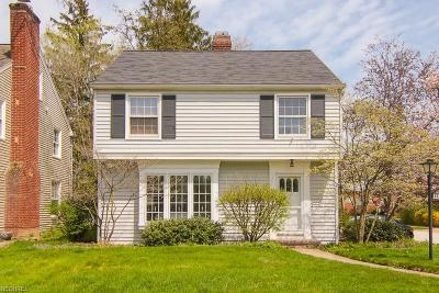 Fairview Park Single Family Home For Sale: 21220 Hillsdale Ave