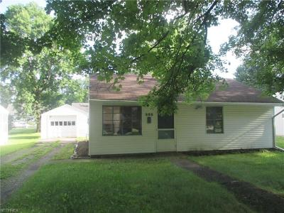Boardman OH Single Family Home For Sale: $38,000